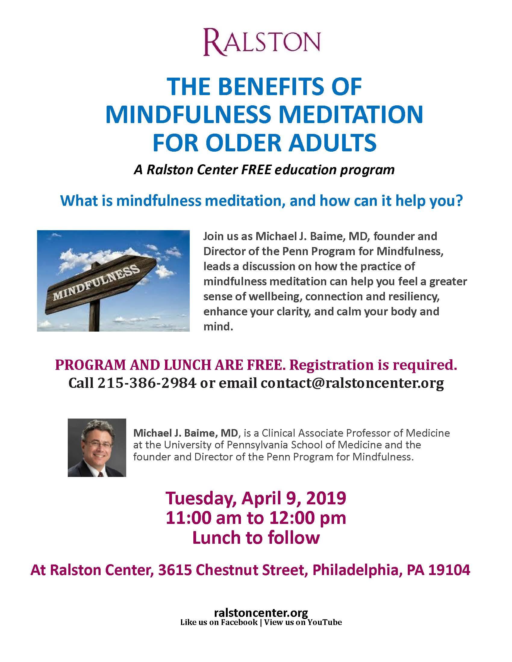 Free Talk On Mindfulness Practice For >> Rc Mindfulness Meditation Program 4 9 19 Ralston
