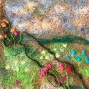 Cassandra Stancil Gunkel, Instructor – Needle Felting – A Flowery Path