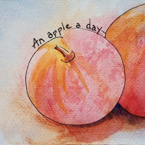 Kate Gering – Etegami – An Apple a Day