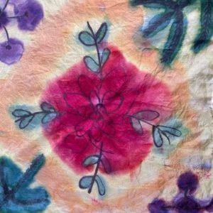 Sandra Campbell – Silk Scarf Painting – God's Handiwork